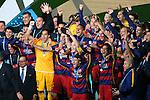 FC Barcelona team group, <br /> DECEMBER 20, 2015 - Football / Soccer : <br /> FIFA Club World Cup Japan 2015 <br /> Award Ceremony <br /> between River Plate - FC Barcelona <br /> at Yokohama International Stadium in Kanagawa, Japan. <br /> (Photo by YUTAKA/AFLO SPORT)