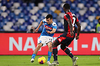 Hirving Lozano of Napoli and Christian Zapata of Genoa<br /> Napoli 09-11-2019 Stadio San Paolo <br /> Football Serie A 2019/2020 <br /> SSC Napoli - Genoa CFC<br /> Photo Cesare Purini / Insidefoto