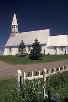 church, Gaspe Peninsula, Quebec, Canada, Acadian church on the Gaspe Peninsula in Quebec.