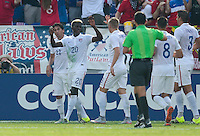 Baltimore, Maryland - Saturday, July 18, 2015: The US Men's National team go up 2-0 over Cuba during quarter final play in the 2015 Gold Cup at M&T Bank Stadium.