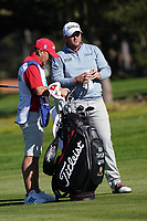 Ben Taylor (ENG) and caddie Lorcan Morris in action at Spyglass Hill during the first round of the AT&T Pro-Am, Pebble Beach Golf Links, Monterey, California, USA. 06/02/2020<br /> Picture: Golffile | Phil Inglis<br /> <br /> <br /> All photo usage must carry mandatory copyright credit (© Golffile | Phil Inglis)