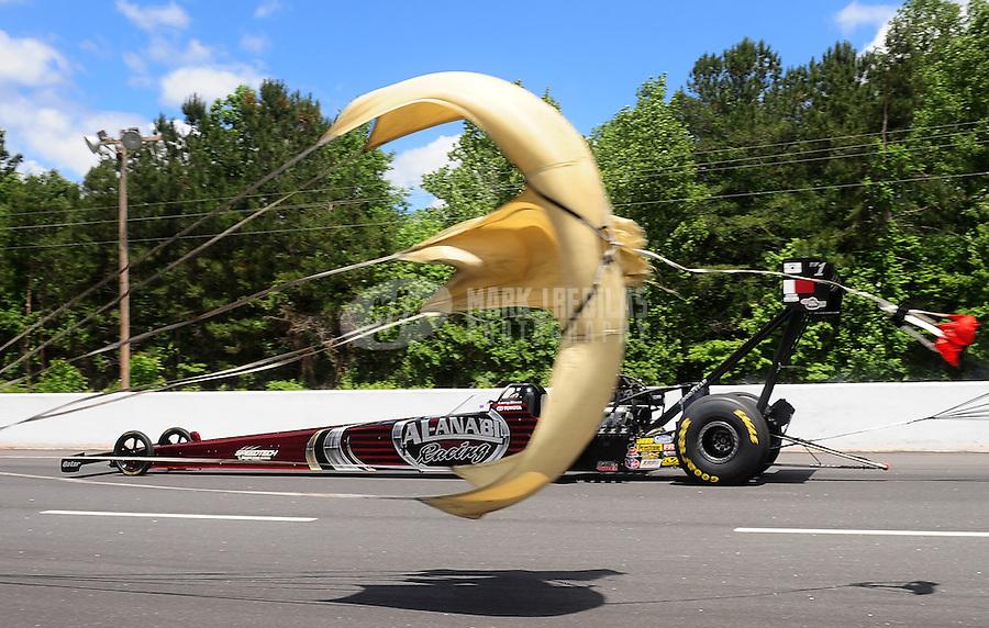 May 15, 2011; Commerce, GA, USA: NHRA top fuel dragster driver Larry Dixon during the Southern Nationals at Atlanta Dragway. Mandatory Credit: Mark J. Rebilas-