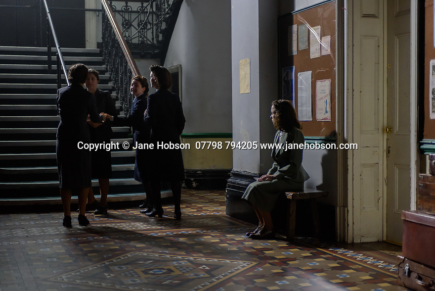 "London, UK. 29.07.2016. On the set of short film ""Little Bird"", written by Emilly Taaffe, directed by Georgia Oakley, produced by Emily Taaffe and Rebecca Cronshey, Director of Photography Nanu Segal. Staring Emily Taaffe and Imelda Staunton. Picture shows: Emily Taaffe. Photograph © Jane Hobson."