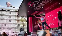 Richard Carapaz (ECU/Movistar) retains the Maglia Rosa / overall leader jersey after Stage 15: Ivrea to Como (232km)<br /> <br /> 102nd Giro d'Italia 2019<br /> <br /> ©kramon