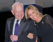 Tea Leoni and Bob Schieffer arrive for the 2015 White House Correspondents Association Annual Dinner at the Washington Hilton Hotel on Saturday, April 25, 2015.<br /> Credit: Ron Sachs / CNP