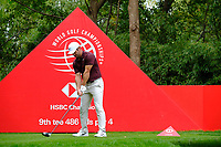 Paul Casey (ENG) on the 9th green   during the 1st round at the WGC HSBC Champions 2018, Sheshan Golf Club, Shanghai, China. 25/10/2018.<br />