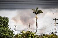 PAHOA, HI - June 2, 2018:  Smoke see in Pahoia from Hawaii's Kilauea Volcano in Pahoa, HI on June 2, 2018. <br /> CAP/MPI/EKP<br /> &copy;EKP/MPI/Capital Pictures
