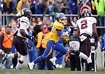 BROOKINGS, SD - OCTOBER 5:  Jimmie Forsythe #25 from South Dakota State University returns a kick past Carl Bivens #43 and Courtney Richmond #2 from Southern Illinois in the second quarter Saturday afternoon at Coughlin Alumni Stadium in Brookings. (Photo by Dave Eggen/Inertia)