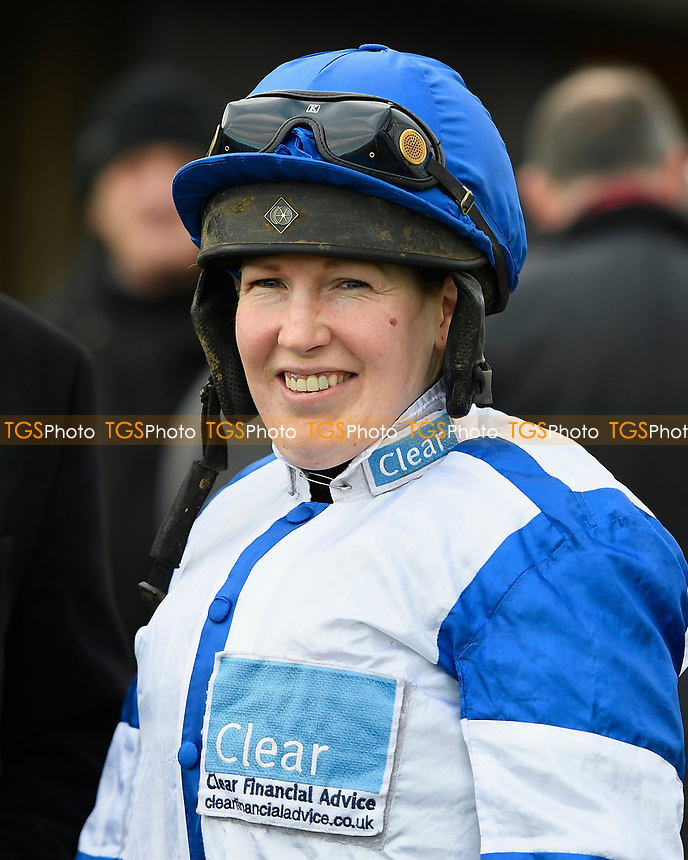 Jockey Lucy Gardner during Horse Racing at Plumpton Racecourse on 10th February 2020