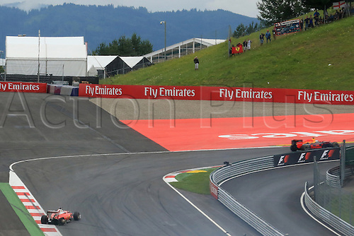 03.07.2016. Red Bull Circuit, Spielberg, Austria. F1 Grand pix of Austria. Race Day.  Scuderia Ferrari SF16-H – Sebastian Vettel tyre blows out on pit staight as he was leading