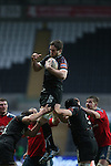 Ryan Jones takes the line out ball for Ospreys.<br /> RaboDirect Pro12<br /> Ospreys v Munster<br /> Liberty Stadium<br /> 23.02.14<br /> <br /> &copy;Steve Pope-SPORTINGWALES