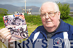 Paddy O'Callaghan, Cromane, with pictures of his beloved BSA 500 Blue Star motorbike that was stolen from his shed last week.