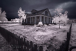 Pioneer Home, Austin, Texas (Infrared) ©2018 James D Peterson.  There's a lot of history in Texas, and many communities have done an excellent job of preserving it.  On this particular day, the threatening weather seemed to emphasize the harsh conditions that folks sometimes had to endure in those early days.