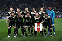 Football Soccer: UEFA Champions UEFA Champions League quarter final second leg Juventus - Ajax, Allianz Stadium, Turin, Italy, March 12, 2019. <br /> Ajax's players pose for the pre match photograph prior to the start of the Uefa Champions League football match between Juventus and Ajax  at the Allianz Stadium, on March 12, 2019.<br /> UPDATE IMAGES PRESS/Isabella Bonotto