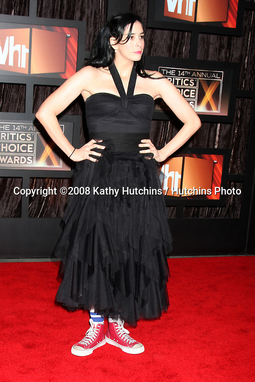 Sarah Silverman arriving at the  Critic's Choice Awards at the Santa Monica Civic Center, in Santa Monica , CA on .January 8, 2009.©2008 Kathy Hutchins / Hutchins Photo..                .