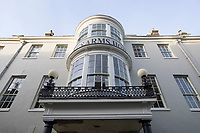 BNPS.co.uk (01202 558833)<br /> Pic: CorinMesser/BNPS<br /> <br /> An historic hotel immortalised in one of Thomas Hardy's most famous novels is set to reopen five years after closing in a state of disrepair.<br /> <br /> The Kings Arms in Dorchester, Dorset, featured prominently in Hardy's 1886 novel The Mayor of Casterbridge.<br /> <br /> The Victorian author described in great detail how the former wife of flawed character Michael Henchard looked in through the building's bow-windows to find him as mayor presiding over a feast.<br /> <br /> The Grade II listed former coaching inn closed in 2015 but its owners, Stay Original Co., have been spent 18 months refurbishing the iconic building.