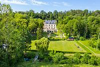 France, Indre-et-Loire (37), Amboise, château Gaillard, le château (vue aérienne)