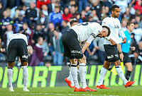 Derby County's Scott Malone reacts after the match<br /> <br /> Photographer Alex Dodd/CameraSport<br /> <br /> The EFL Sky Bet Championship Play-off  First Leg - Derby County v Leeds United - Thursday 9th May 2019 - Pride Park - Derby<br /> <br /> World Copyright © 2019 CameraSport. All rights reserved. 43 Linden Ave. Countesthorpe. Leicester. England. LE8 5PG - Tel: +44 (0) 116 277 4147 - admin@camerasport.com - www.camerasport.com
