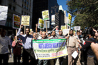 The North American Muslim Society (NAMS) at the Rally for Unity & Solidarity with Muslim People on 11 September 2010, in New York City, New York, the 9th anniversary of the attacks on the World Trade Center and Pentagon.  In the midst of controversy over a mosque being developed near Ground Zero, an emergency mobilization against racism and anti-islamic bigotry was held. The North American Muslim Society at the