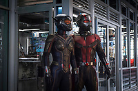 Ant-Man and the Wasp (2018) <br /> Paul Rudd &amp; Evangeline Lilly<br /> *Filmstill - Editorial Use Only*<br /> CAP/MFS<br /> Image supplied by Capital Pictures