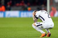 A despondent  Kieran Trippier of Tottenham Hotspur after Tottenham Hotspur vs Juventus, UEFA Champions League Football at Wembley Stadium on 7th March 2018