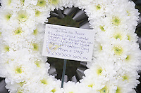 Pictured: Floral tribute from Scott's parents.<br />