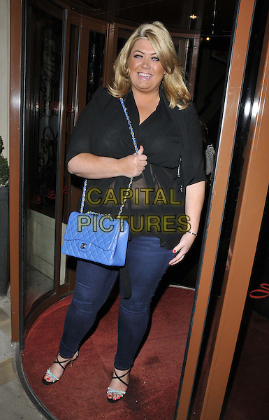 LONDON, ENGLAND - FEBRUARY 25: Gemma Collins attends the Total Mink ethically produced mink fur eyelashes new line launch party, Sanctum Soho Hotel, Warwick St., on Tuesday February 25, 2014 in London, England, UK.<br /> CAP/CAN<br /> &copy;Can Nguyen/Capital Pictures
