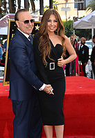 LOS ANGELES, CA. October 10, 2019: Tommy Mottola & Thalia Mottola at the Hollywood Walk of Fame Star Ceremony honoring Tommy Mottola.<br /> Pictures: Paul Smith/Featureflash