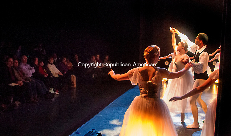 TORRINGTON, CT.- 08 MARCH 2015 - 030815JW04 - The Nutmeg Ballet Conservatory members perform Les Sylphides before an audience during Impact 2015 at the Warner Theatre's Nancy Marine Studio Theatre Sunday afternoon.<br /> Jonathan Wilcox Republican-American