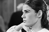 January 1970, New York City. American actress Ali MacGraw on the movie set of the film Love Story. O'Neil starred as Oliver Barrett IV and Ali MacGraw starred as Jennifer Cavilerri in the romance written by Erich Segal and directed by Arthur Hiller.
