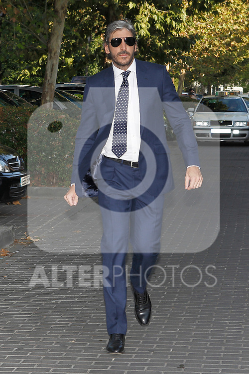 Alfonso de Borbon visits San Isidro funeral home following the death of Miguel Boyer in Madrid, Spain. September 29, 2014. (ALTERPHOTOS/Victor Blanco)