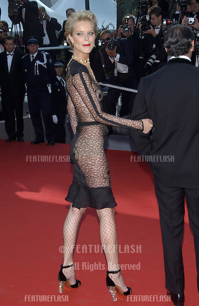 Supermodel EVA HERZIGOVA at the screening of Dogville at the Cannes Film Festival..19MAY2003