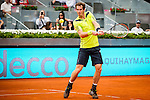 The tennis player Andy Murray during the match against santiago Giraldo in the Madrid Open Tennis Tournament. In Madrid, Spain, on 08/05/2014.