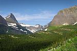 Glacial mountain in Glacier National Park