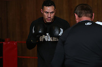 Joseph Parker during a training session prior to his fight against WBO African Champion and world number 13 Australian Bowie Tupou at ILT Stadium Southland on August 1st, Invercargill, New Zealand, Thurssday, July 30, 2015. Credit:NINZ / Dianne Manson