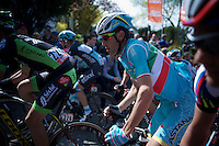 Italian Champion Vincenzo Nibali (ITA/Astana) up the infamous Mur de Huy (1300m/9.8%)<br /> <br /> 79th Fl&egrave;che Wallonne 2015