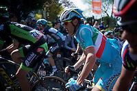Italian Champion Vincenzo Nibali (ITA/Astana) up the infamous Mur de Huy (1300m/9.8%)<br /> <br /> 79th Flèche Wallonne 2015