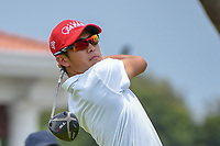 Keita NAKAJIMA (JPN) watches his tee shot on 12 during Rd 4 of the Asia-Pacific Amateur Championship, Sentosa Golf Club, Singapore. 10/7/2018.<br /> Picture: Golffile | Ken Murray<br /> <br /> <br /> All photo usage must carry mandatory copyright credit (© Golffile | Ken Murray)