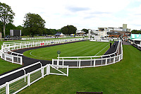 The Parade Ring looks in great condition during Evening Racing at Salisbury Racecourse on 25th May 2019