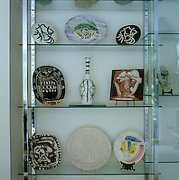 Detail of an impressive collection of 20th century ceramic plates