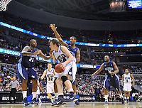 Matt Howard of the Bulldogs looks to score against the Monarch defense. Butler defeated Old Dominion 60-58 during the NCAA tournament at the Verizon Center in Washington, D.C. on Thursday, March 17, 2011. Alan P. Santos/DC Sports Box