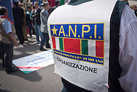 ANPI People during 25 April demonstration italian liberation of Nazi Fascism World War II thanks by partigiani, on April 25, 2014. Photo: Adamo Di Loreto/BuenaVista*photo