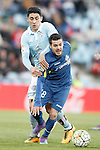 Getafe's Victor Rodriguez (r) and Celta de Vigo's Pablo Hernandez during La Liga match. February 27,2016. (ALTERPHOTOS/Acero)