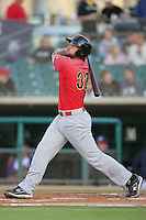 Ryan Wheeler of the Visalia Rawhide during game against the Lancaster JetHawks at Clear Channel Stadium in Lancaster,California on June 10, 2010. Photo by Larry Goren/Four Seam Images