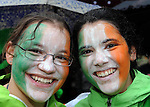 17-03-2014: Michaela Schwantes and Belen Nieto at  the St. Patrick's Day Parade in KIllarney, Co. Kerry on Monday. Picture: Eamonn Keogh (MacMonagle, Killarney)