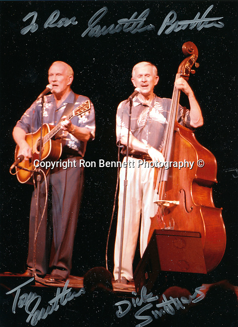 The Smothers Brothers American double act Tommy on acoustic guitar Dick on string bas, The Smothers Brothers Comedy Hour,