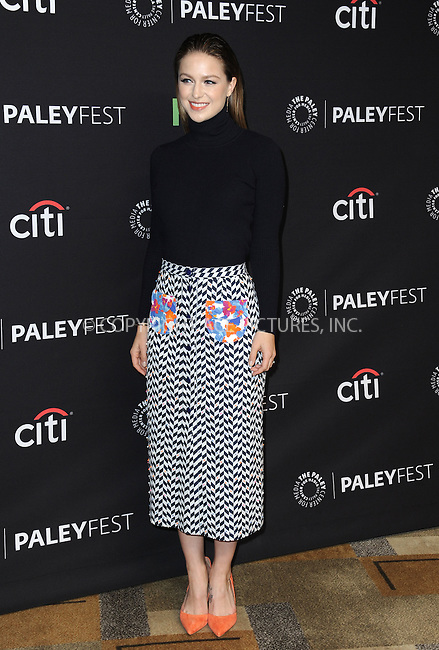WWW.ACEPIXS.COM<br /> <br /> March 13 2016, LA<br /> <br /> Actress Melissa Benoist arriving at The Paley Center For Media's 33rd Annual PALEYFEST 'Supergirl' at the Dolby Theatre on March 13, 2016 in Hollywood, California.<br /> <br /> <br /> By Line: Peter West/ACE Pictures<br /> <br /> <br /> ACE Pictures, Inc.<br /> tel: 646 769 0430<br /> Email: info@acepixs.com<br /> www.acepixs.com