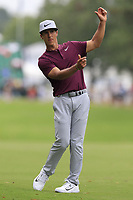 Thorbjorn Olesen (DEN) prepares to play his 2nd shot on the 10th hole during Friday's Round 2 of the 2017 PGA Championship held at Quail Hollow Golf Club, Charlotte, North Carolina, USA. 11th August 2017.<br /> Picture: Eoin Clarke | Golffile<br /> <br /> <br /> All photos usage must carry mandatory copyright credit (&copy; Golffile | Eoin Clarke)