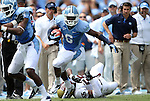 01 September 2012: UNC's Sean Tapley. The University of North Carolina Tar Heels played the Elon University Phoenix at Kenan Memorial Stadium in Chapel Hill, North Carolina in a 2012 NCAA Division I Football game. UNC won the game 62-0.