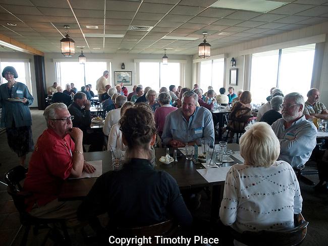 Enjoying dinner at RYC Memorial Day party